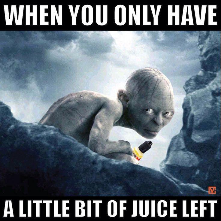 Golem Vape Juice Meme