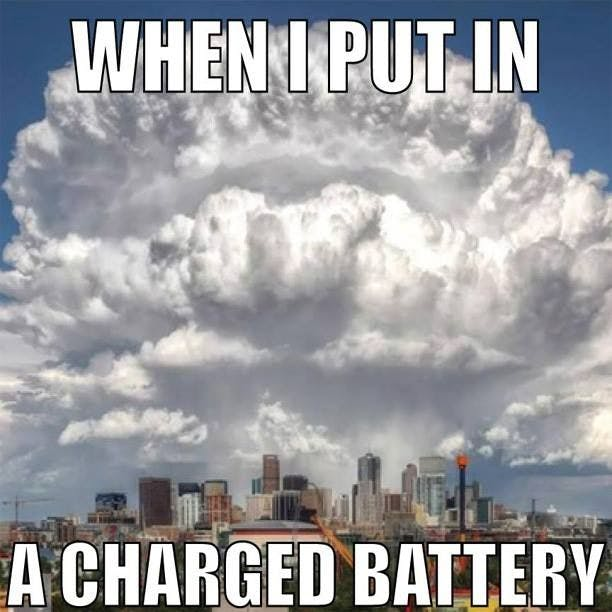 Vaping New Battery Meme
