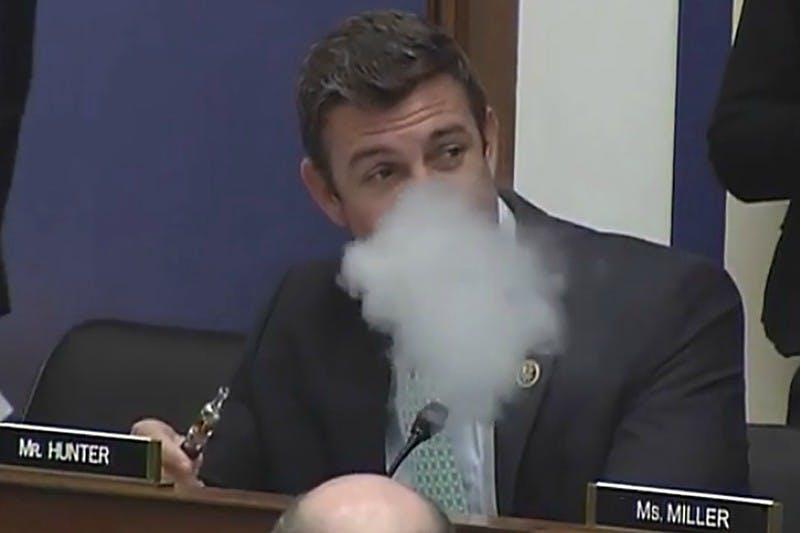 Congressman Vaping duncan hunter