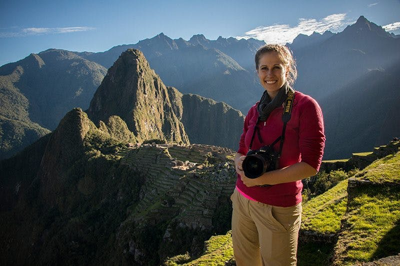 Producer and Editor - Jennifer Biebert at Machu Picchu