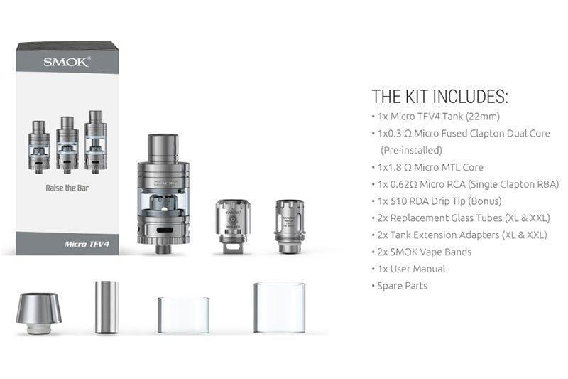 SMOK TFV-4 Micro Kit Content