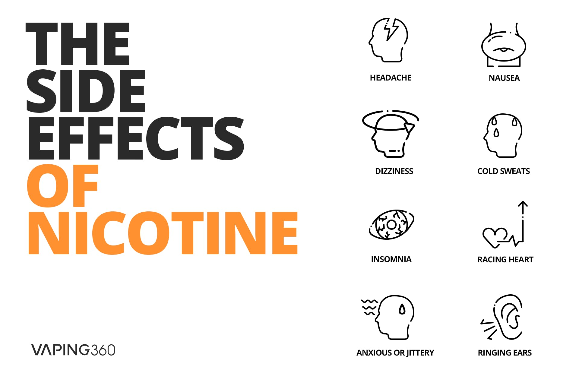 Nicotine side effects-Infographic