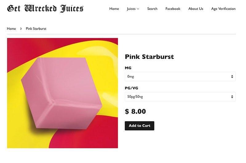 Get-wrecked-juices-website