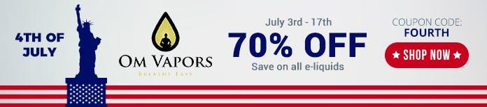 4th july omvapors deals