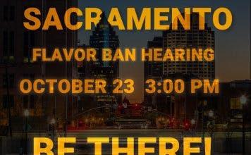 Sacramento Flavor Ban Public Hearing on Tuesday