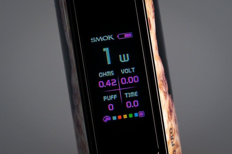 SMOK RPM80 Pro Pod Mod review - display