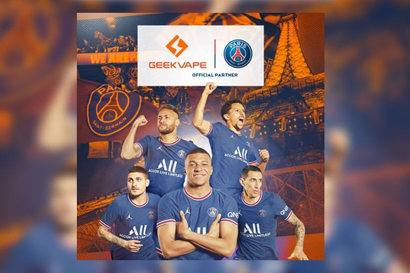 Press Release: Geekvape and Paris Saint-Germain Announce Official Partnership
